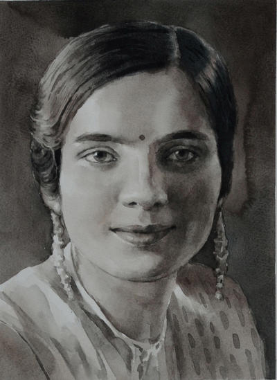 Charcoal Painting From Photo Custom Portrait Painting