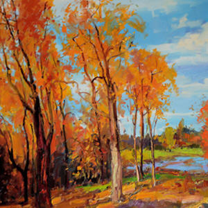 Landscape Scenery Original Oil Painting for Hotel